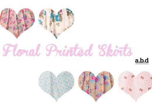 printed skirts heart collage