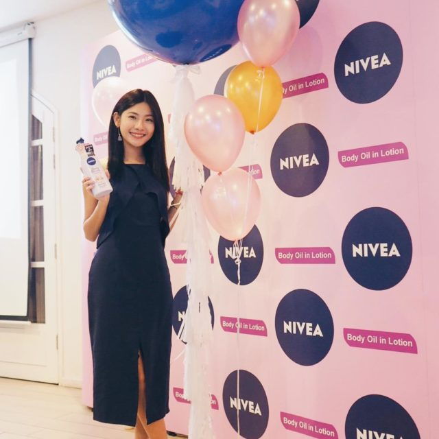 Happy to be part of Niveas latest OILinLotion launch Triedhellip