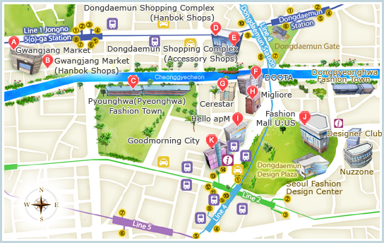 Dongdaemun map