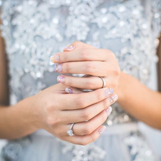 On my fingers Prettiest nails and my dream rings roylineinlove