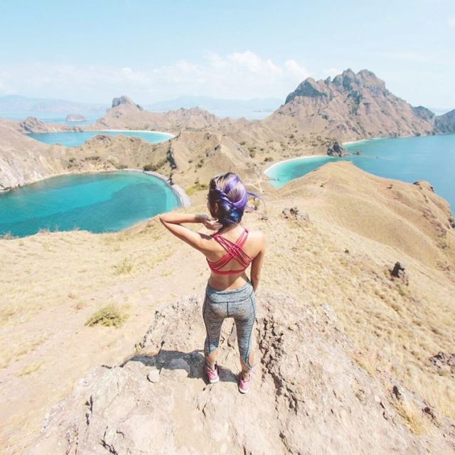 Wasnt expecting this magnificent view when trekking up Padar Islandhellip